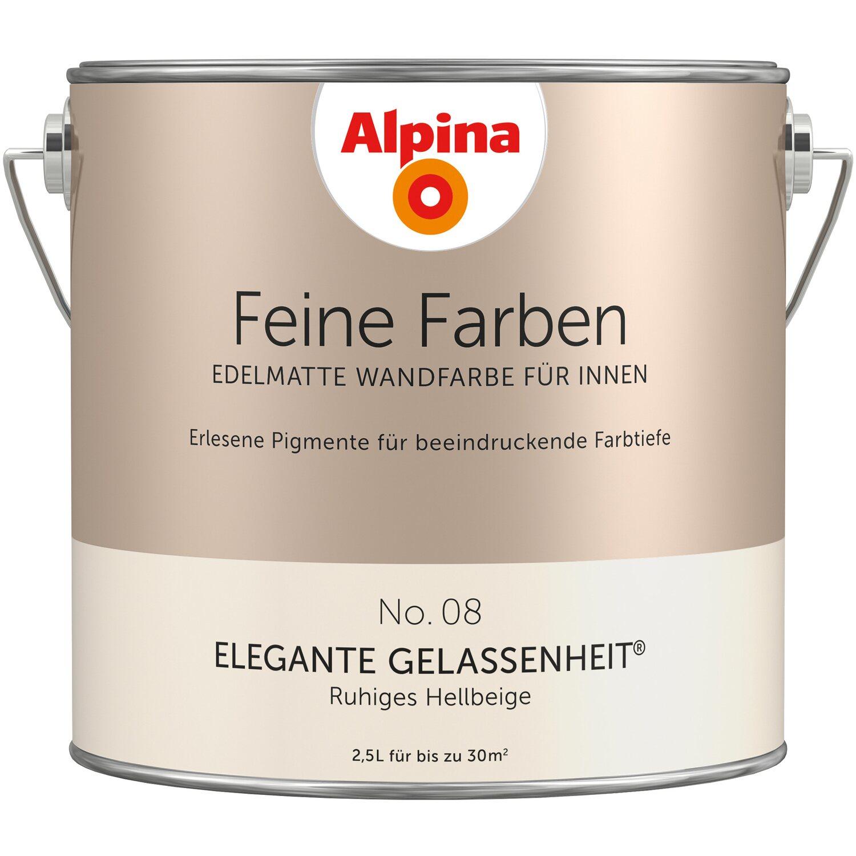 Alpina Feine Farben No. 8 Ruhiges Hellbeige Edelmatt 2,5 L