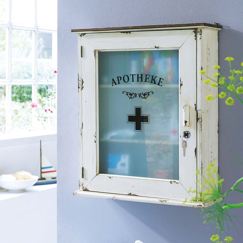 Best of home Medizinschrank 55 cm x 47 cm x 15 cm Altweiß kaufen ...