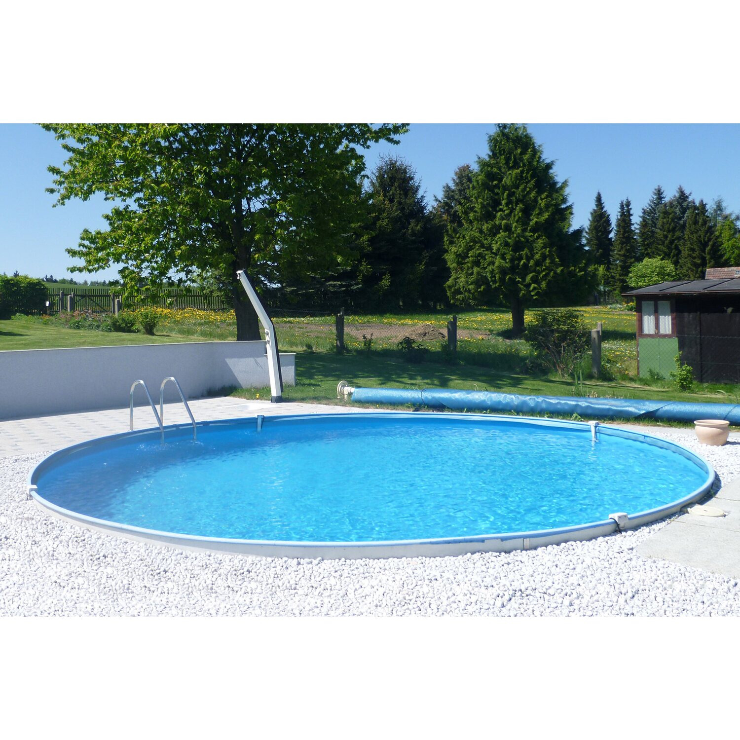 Summer fun stahlwand pool set baja einbaubecken 350 cm x for Swimming pools bei obi