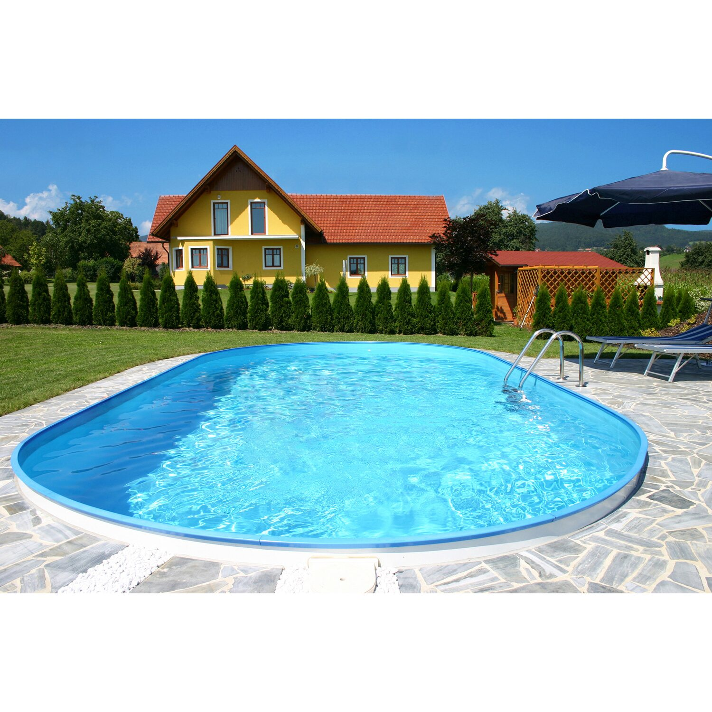 stahlwand pool set florenz einbaubecken ovalform 700 cm x. Black Bedroom Furniture Sets. Home Design Ideas