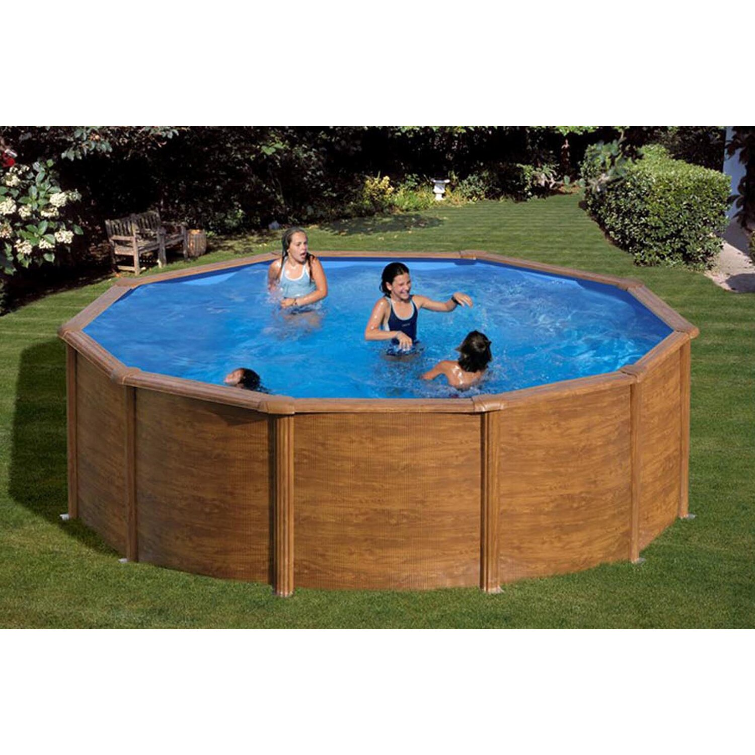 Summer fun holzpool set natur san diego aufstellbecken for Holzpool obi