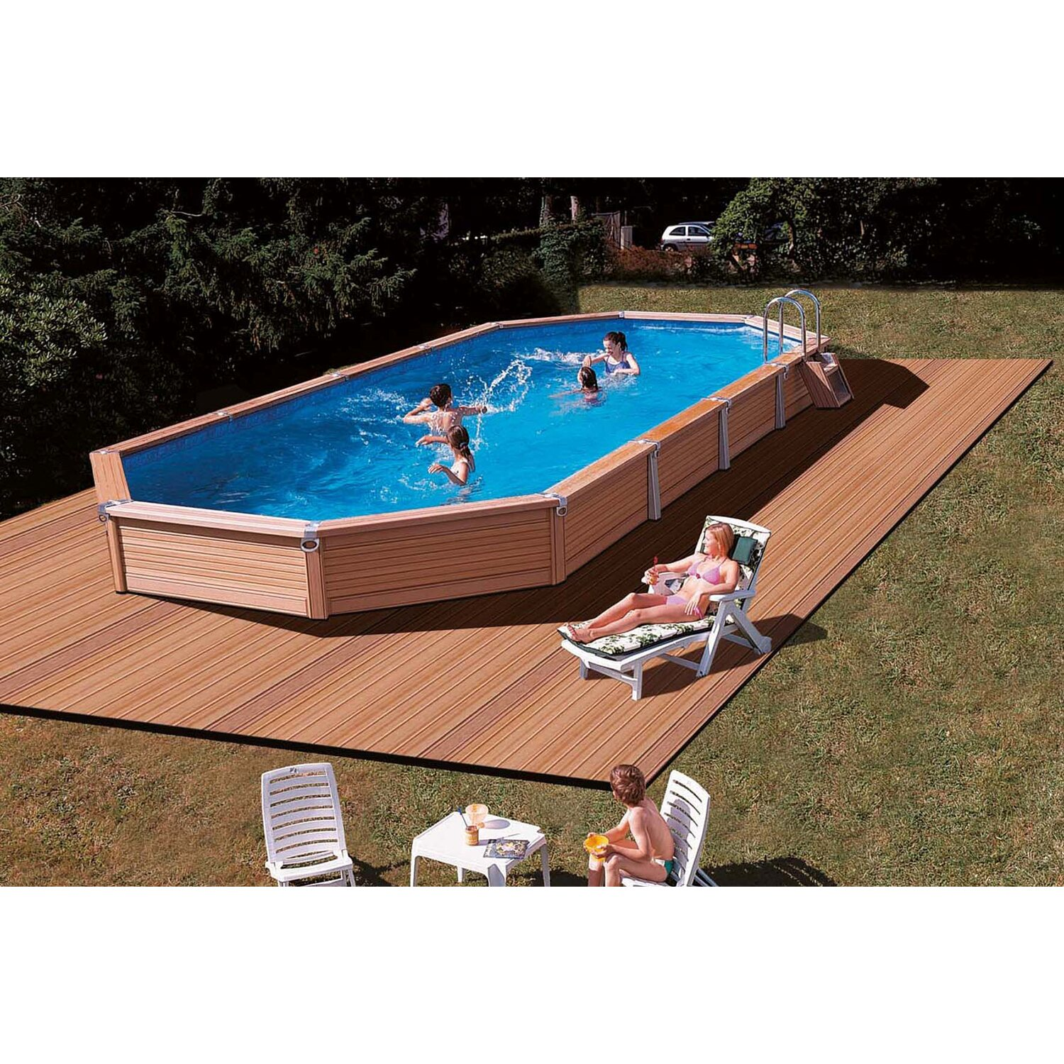 Einbaupool set brandneu gfk nordeney x x solobecken mit for Obi poolfolie