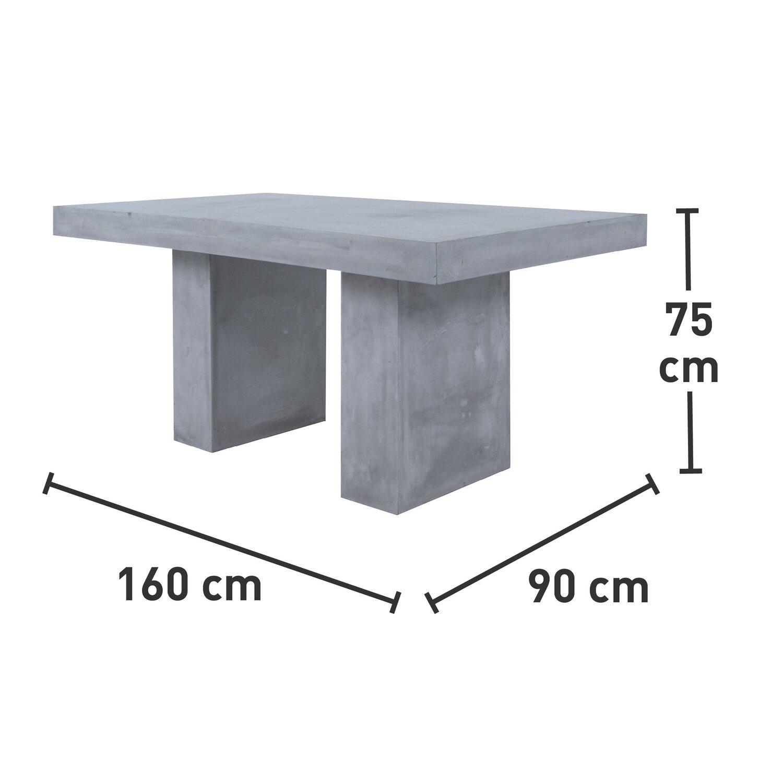 obi gartentisch tulsar betonoptik 75 cm x 160 cm x 90 cm kaufen bei obi