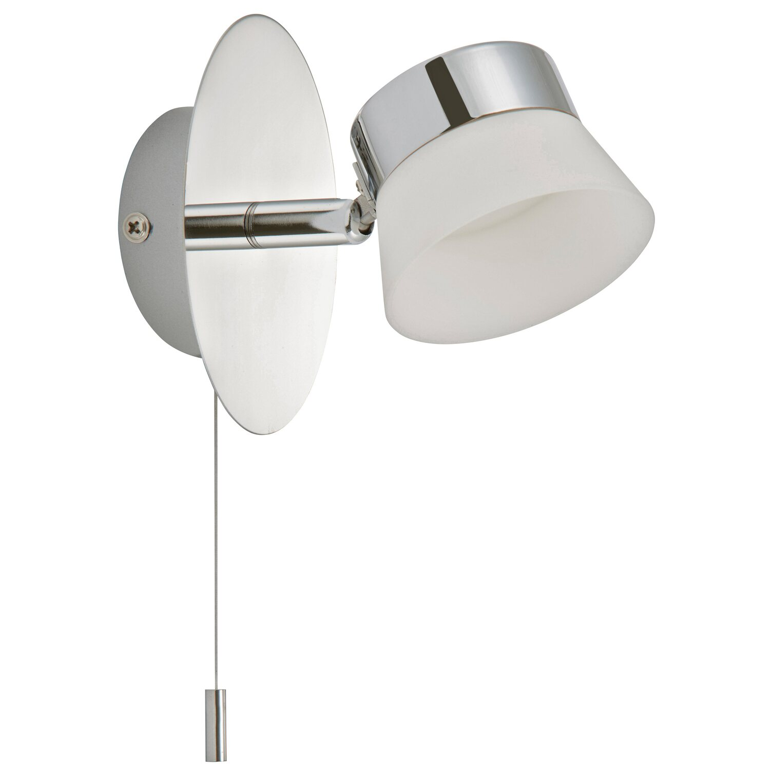 Briloner   LED-Bad-Wandleuchte Surfline IP 44 EEK: A - A+ Chrom