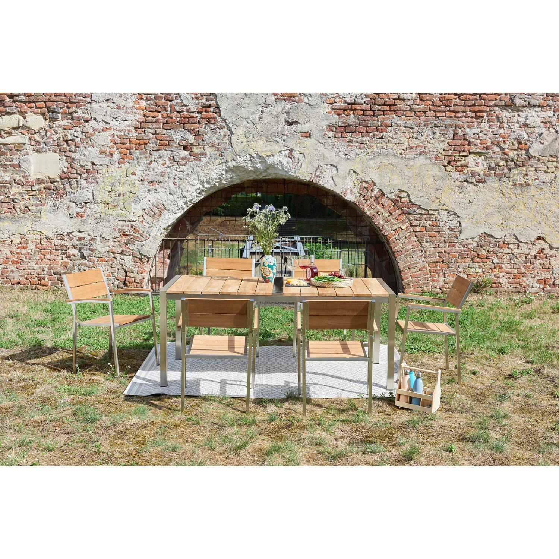 Greemotion Gartenmöbel-Set San Diego Teakholz 7-teilig kaufen bei OBI