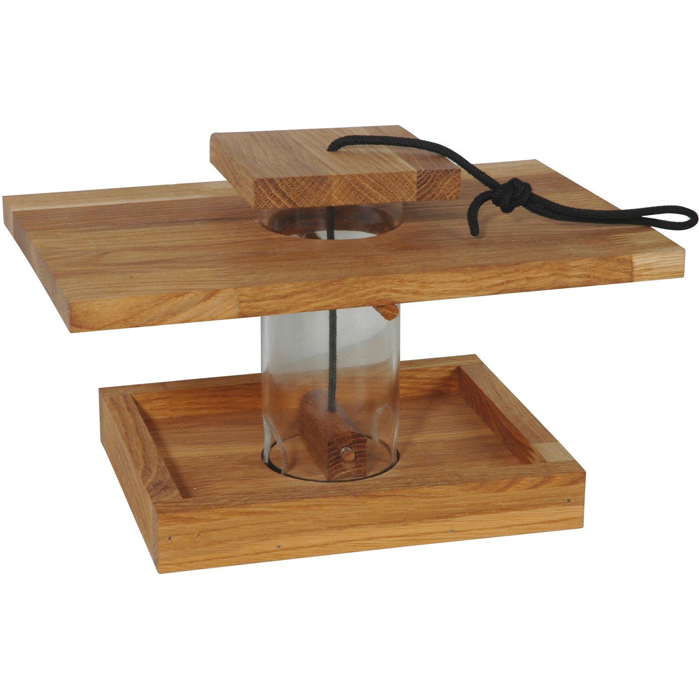 Dobar vogelfutterhaus eichenholz mit acrylglassilo kaufen for Stahlwandpool bei obi
