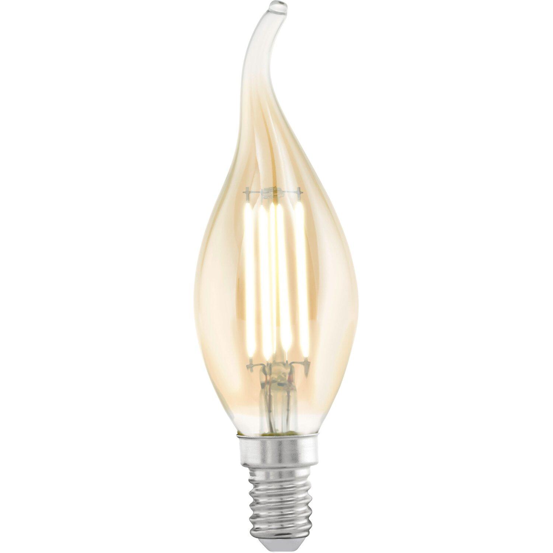Eglo LED-Filament-Leuchtmittel Windstoßkerze E1...
