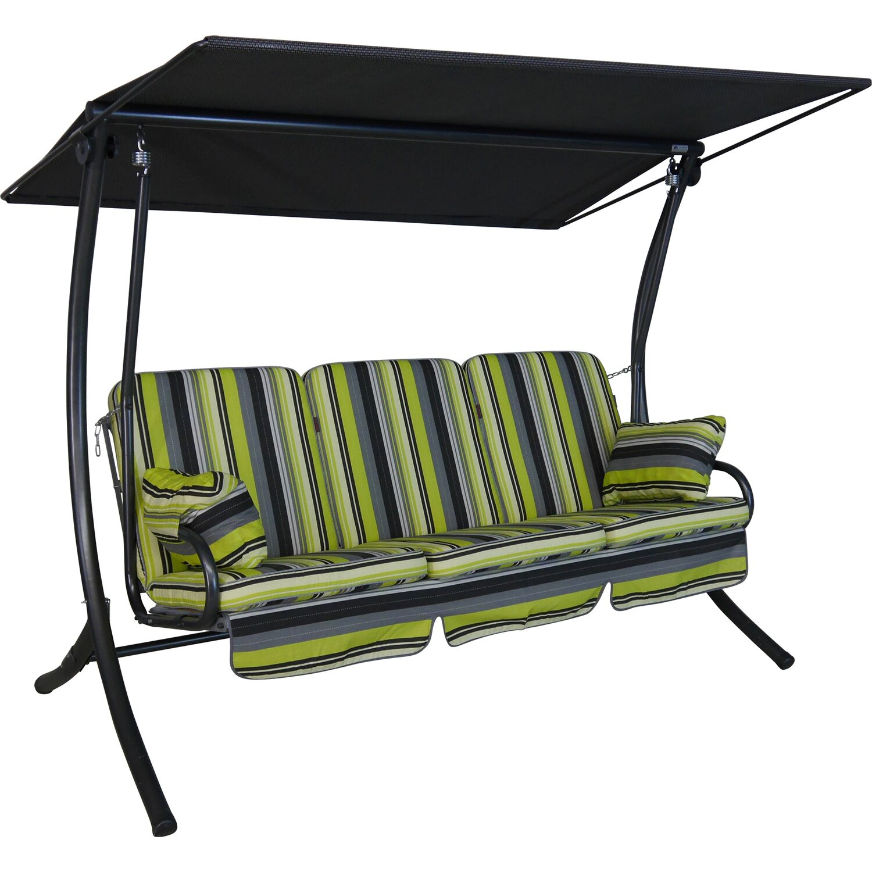 angerer hollywoodschaukel star bari 3 sitzer gr n kaufen bei obi. Black Bedroom Furniture Sets. Home Design Ideas