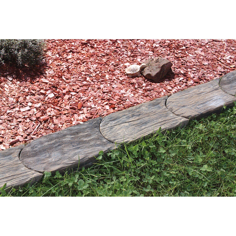 h usler rasenkantenstein aus beton in holzoptik 24 cm x 13. Black Bedroom Furniture Sets. Home Design Ideas