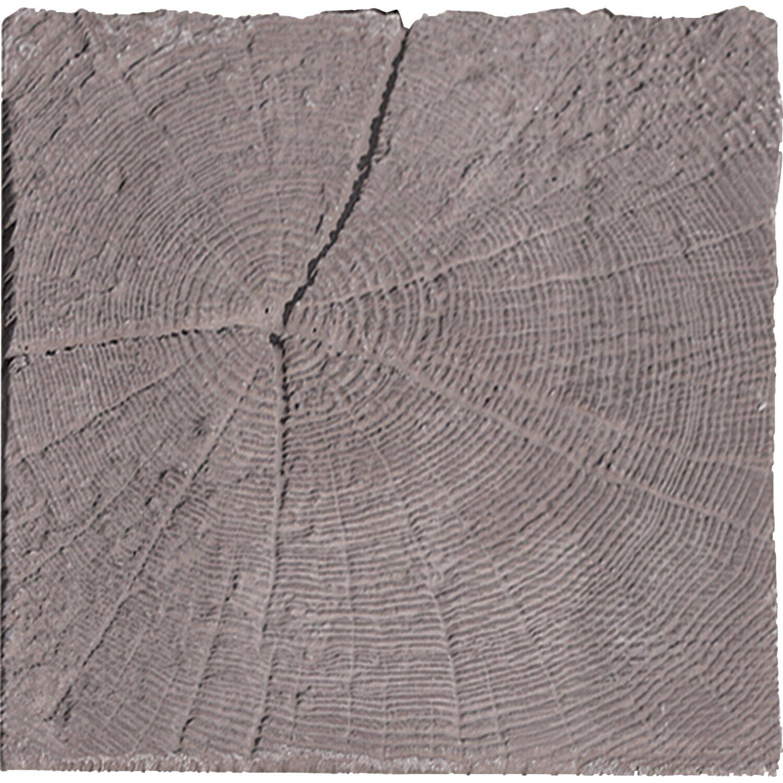 häusler stirnholz aus beton in holzoptik 22,5 cm x 22,5 cm x 4,5cm