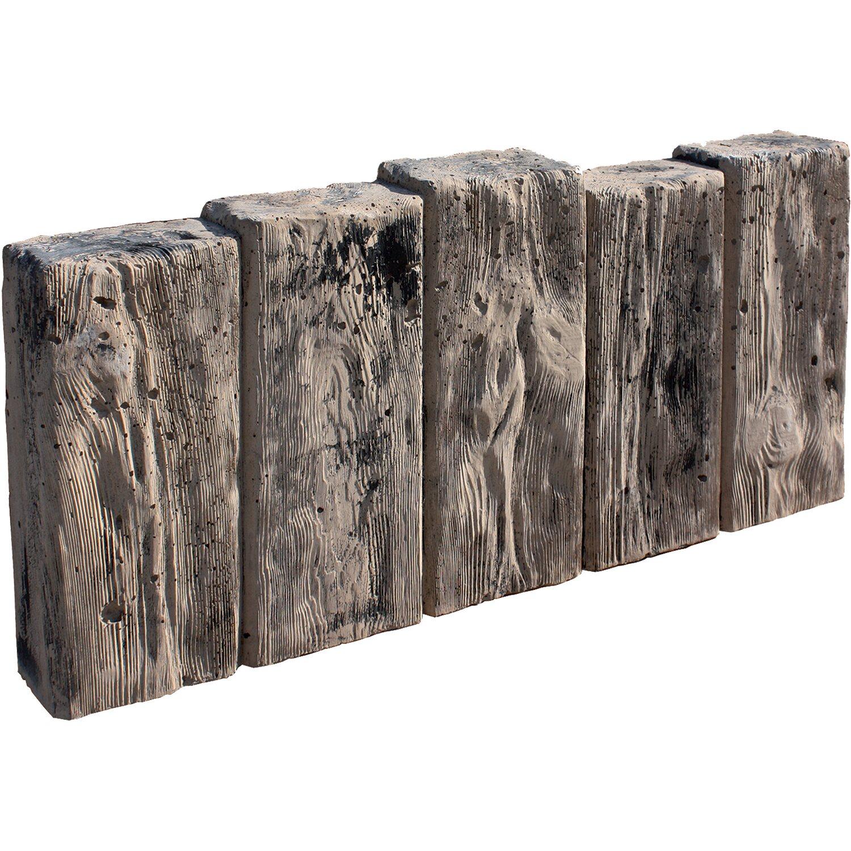 häusler palisade aus beton in holzoptik 67 cm x 32 cm x 8 cm kaufen