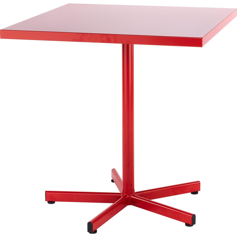 Schaffner Gartentisch Basic Metall 72 X 70 X 70 Cm Rot Kaufen Bei Obi