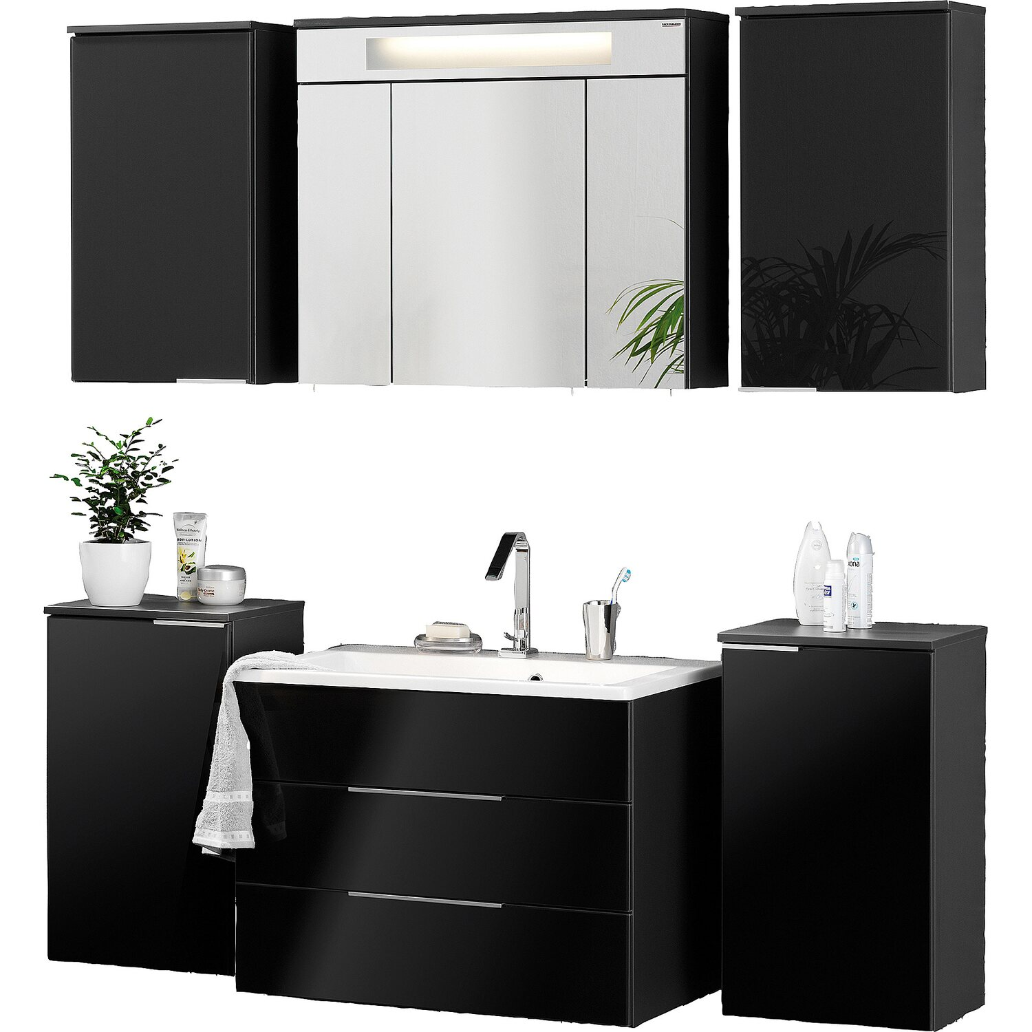 fackelmann badm bel set eek a kara anthrazit 7 teilig kaufen bei obi. Black Bedroom Furniture Sets. Home Design Ideas