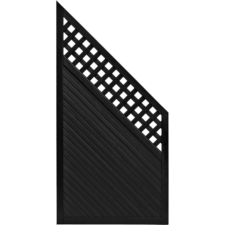 sichtschutzzaun anschlusselement brest anthrazit 180 x 90 cm auf 90 cm kaufen bei obi. Black Bedroom Furniture Sets. Home Design Ideas