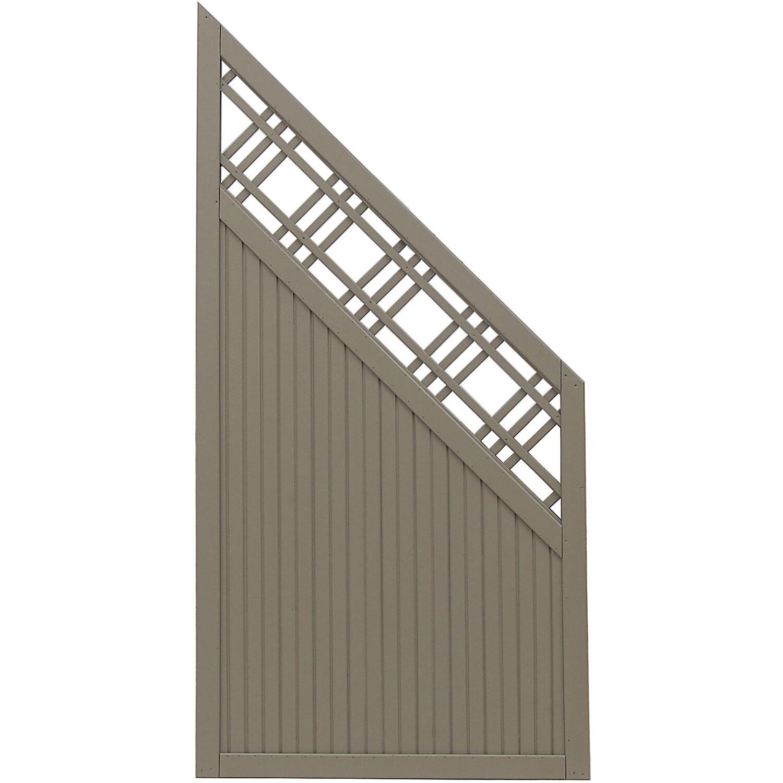 Sonstige Sichtschutzzaun Anschlusselement Caen Grau 180 x 90 cm auf 90 cm