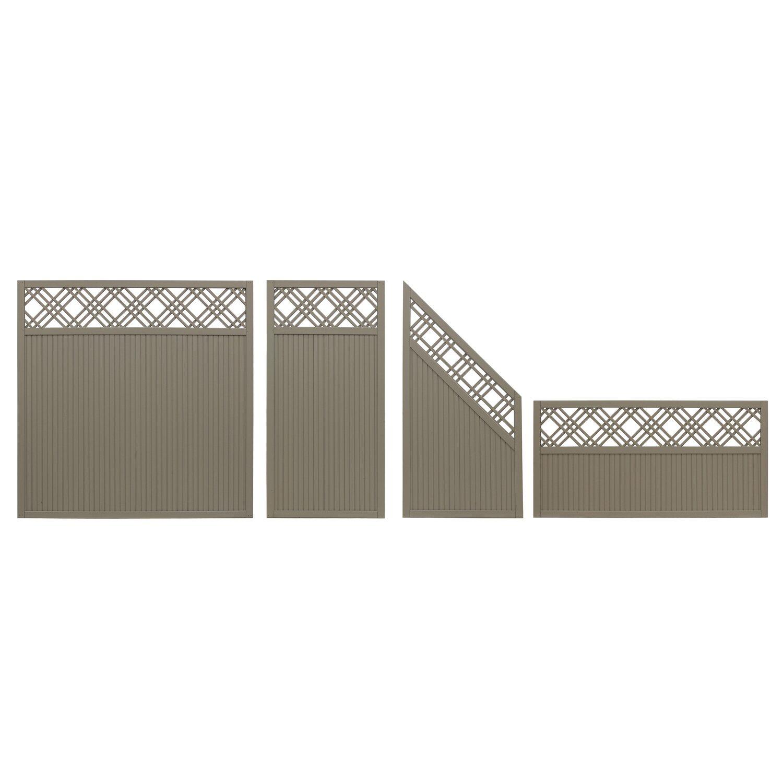 sichtschutzzaun element caen grau 90 cm x 180 cm kaufen bei obi. Black Bedroom Furniture Sets. Home Design Ideas
