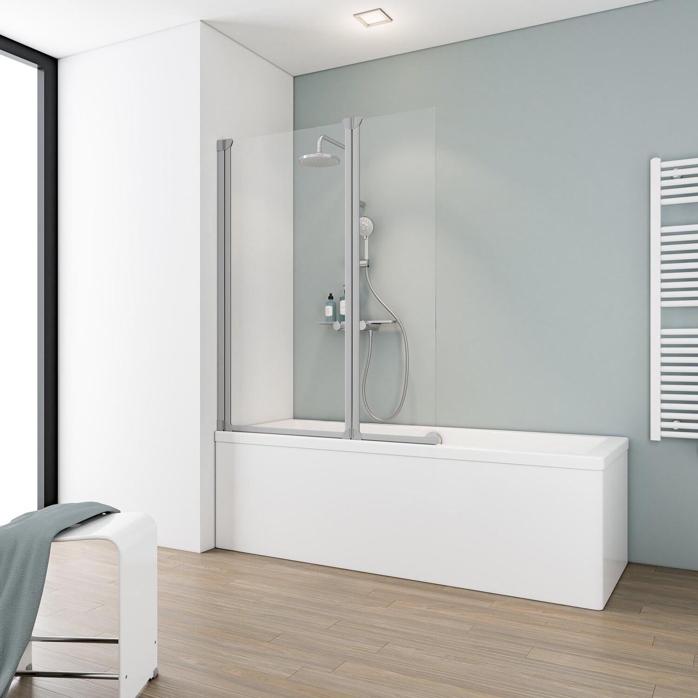 schulte badewannenaufsatz 2 teilig 103 5 cm x 130 cm echtglas klar hell kaufen bei obi. Black Bedroom Furniture Sets. Home Design Ideas