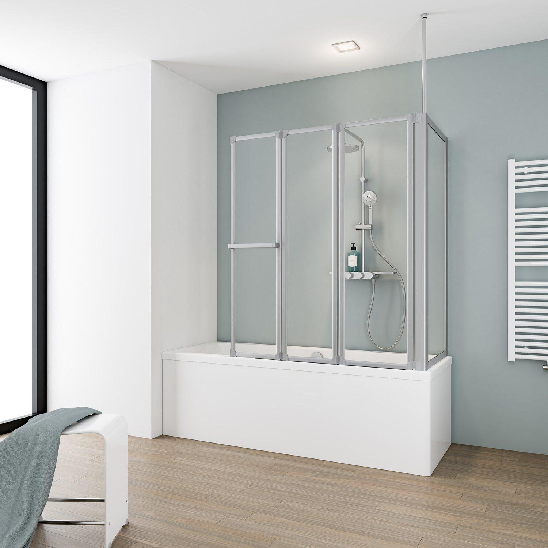 schulte badewannenaufsatz 4 teilig mit seitenwand kunstglas kaufen bei obi. Black Bedroom Furniture Sets. Home Design Ideas