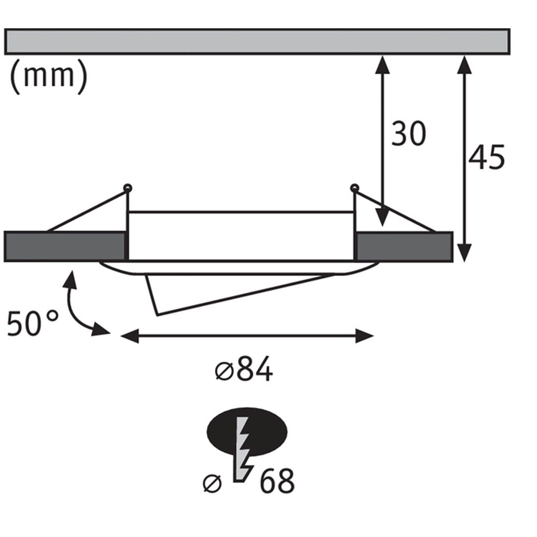 Paulmann LED-Einbauleuchte Premium Coin-Set Slim IP23 EEK: A-A++