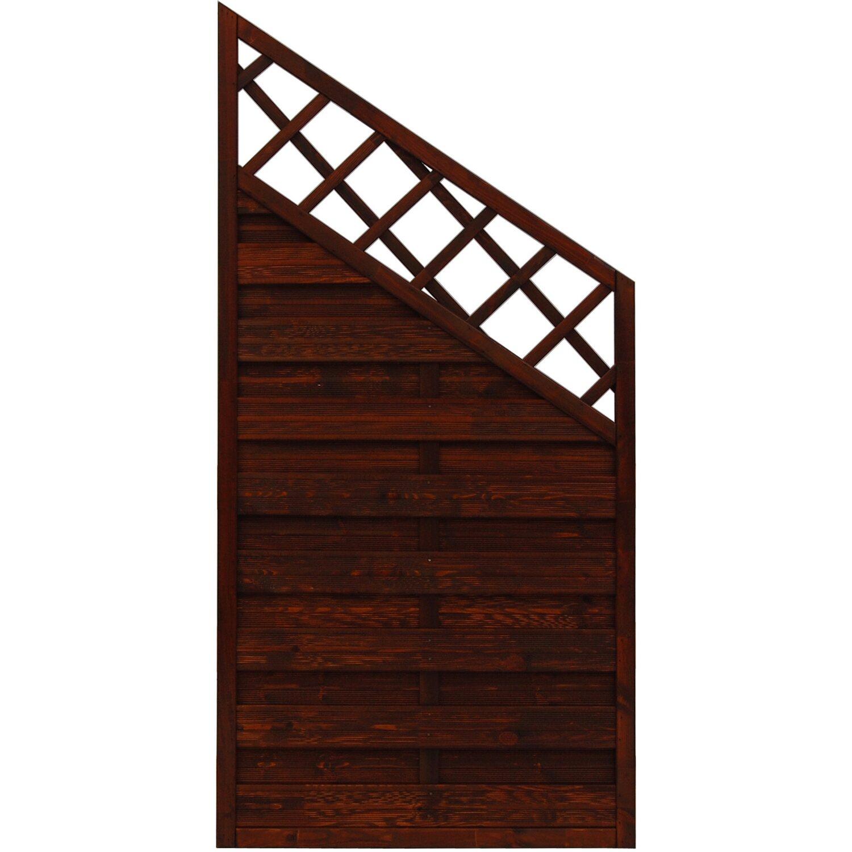 Sonstige Sichtschutzzaun Anschlusselement Country Braun 180 x 120 cm auf 90 cm