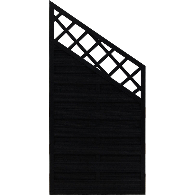 Sonstige Sichtschutzzaun Anschlusselement Country Anthrazit 180 x 120 cm auf 90 cm