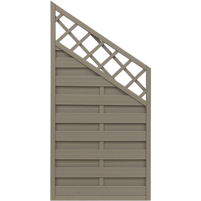 Sonstige Sichtschutzzaun Anschlusselement Country Grau 180 x 120 cm auf 90 cm