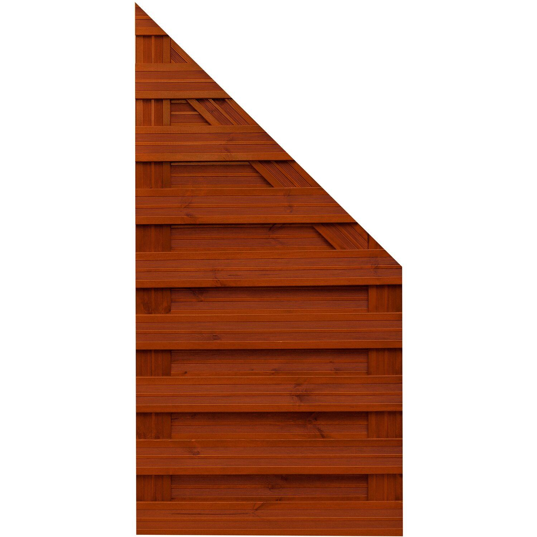 Sonstige Sichtschutzzaun Anschlusselement Goch Teakfarben 180 x 90 cm auf 90 cm