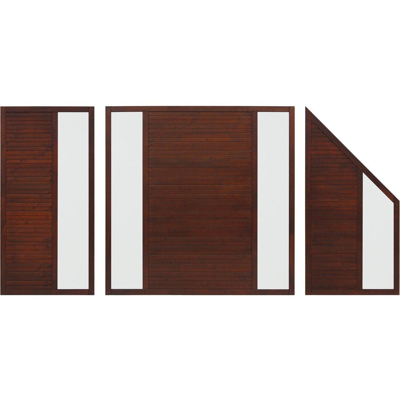sichtschutzzaun element duo braun 180 cm x 90 cm kaufen bei obi. Black Bedroom Furniture Sets. Home Design Ideas