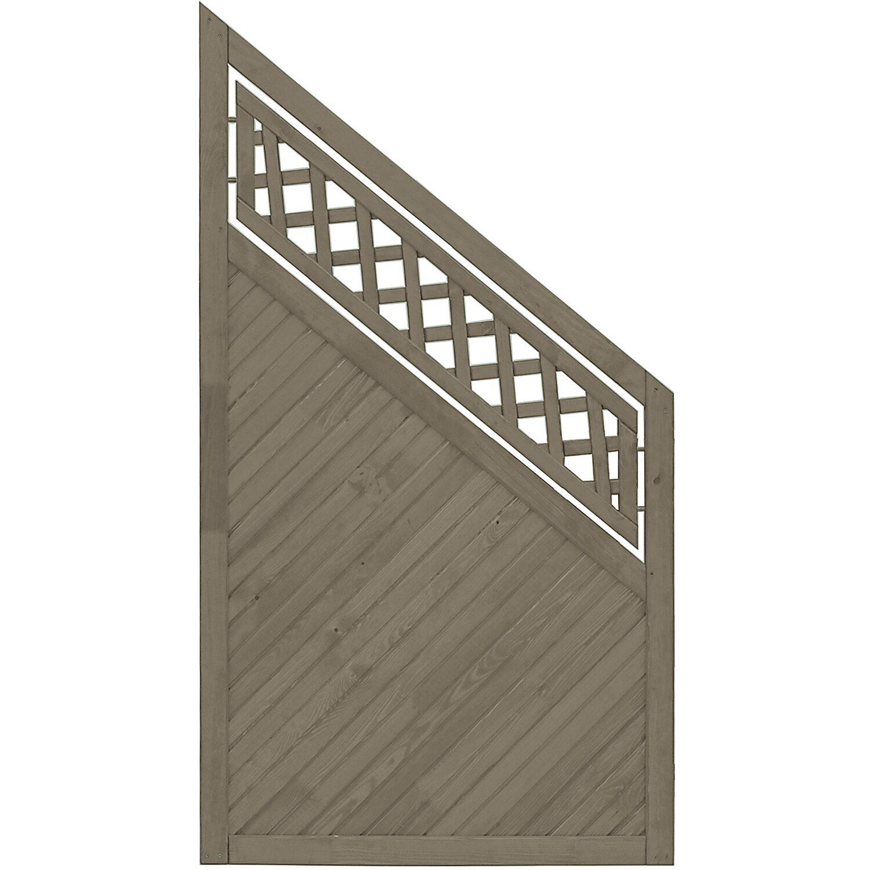 Sonstige Sichtschutzzaun Anschlusselement Nevers Grau 164 x 90 cm auf 90 cm