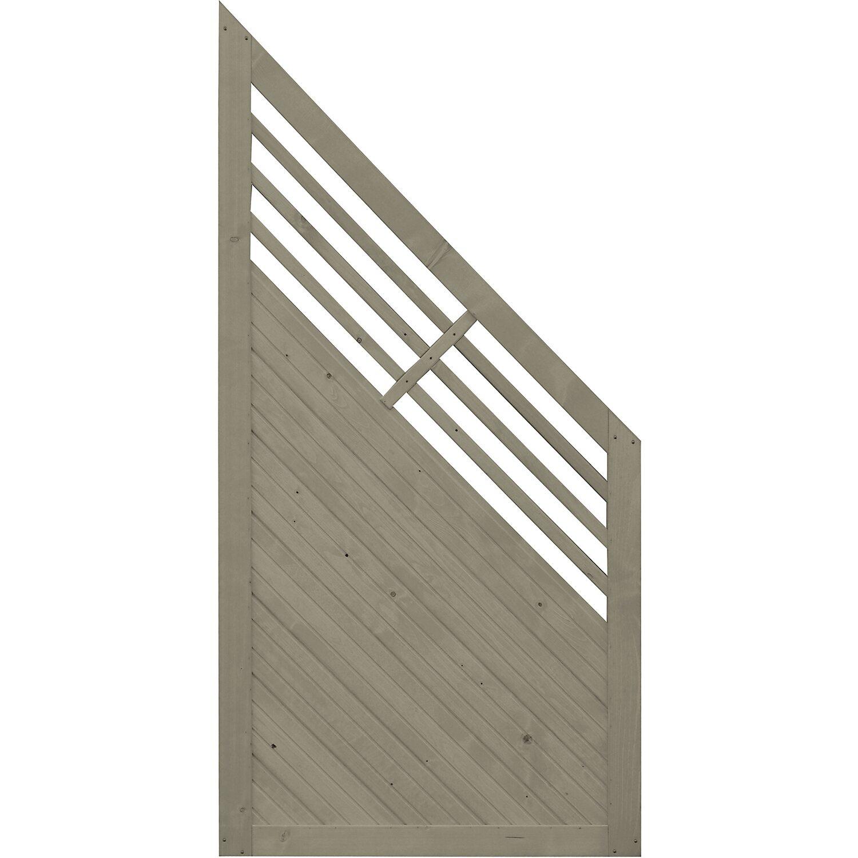 sichtschutzzaun anschlusselement manhattan grau 180 x 90 cm auf 90 cm kaufen bei obi. Black Bedroom Furniture Sets. Home Design Ideas
