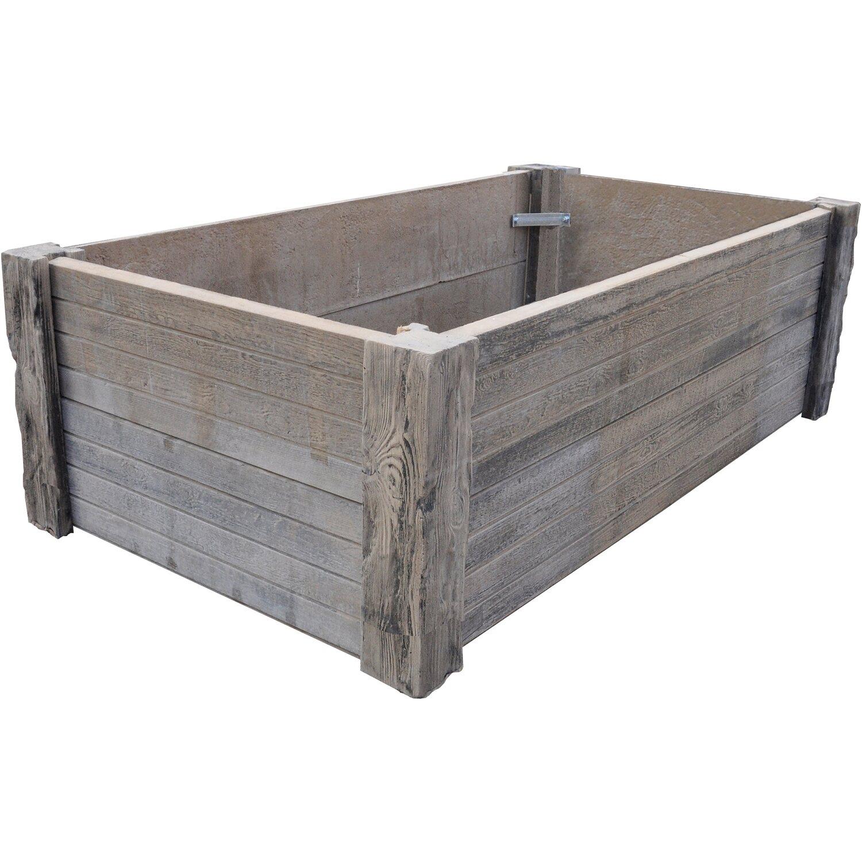 h usler hochbeet aus versteinertem holz 206 cm x 115 cm x 60 cm kaufen bei obi. Black Bedroom Furniture Sets. Home Design Ideas