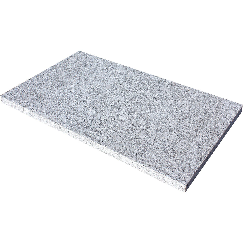 Hausler Naturstein Granit Platte Hellgrau 60 Cm X 35 Cm X 3 Cm