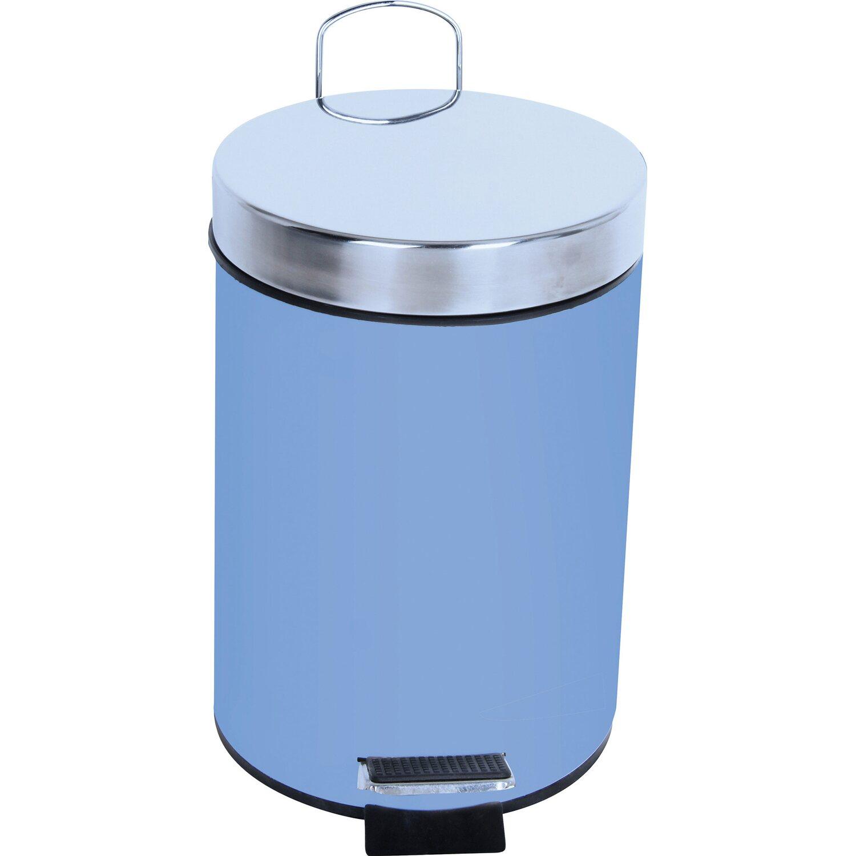 Tretmülleimer tret mülleimer deauville metall 3 l pastellblau kaufen bei obi