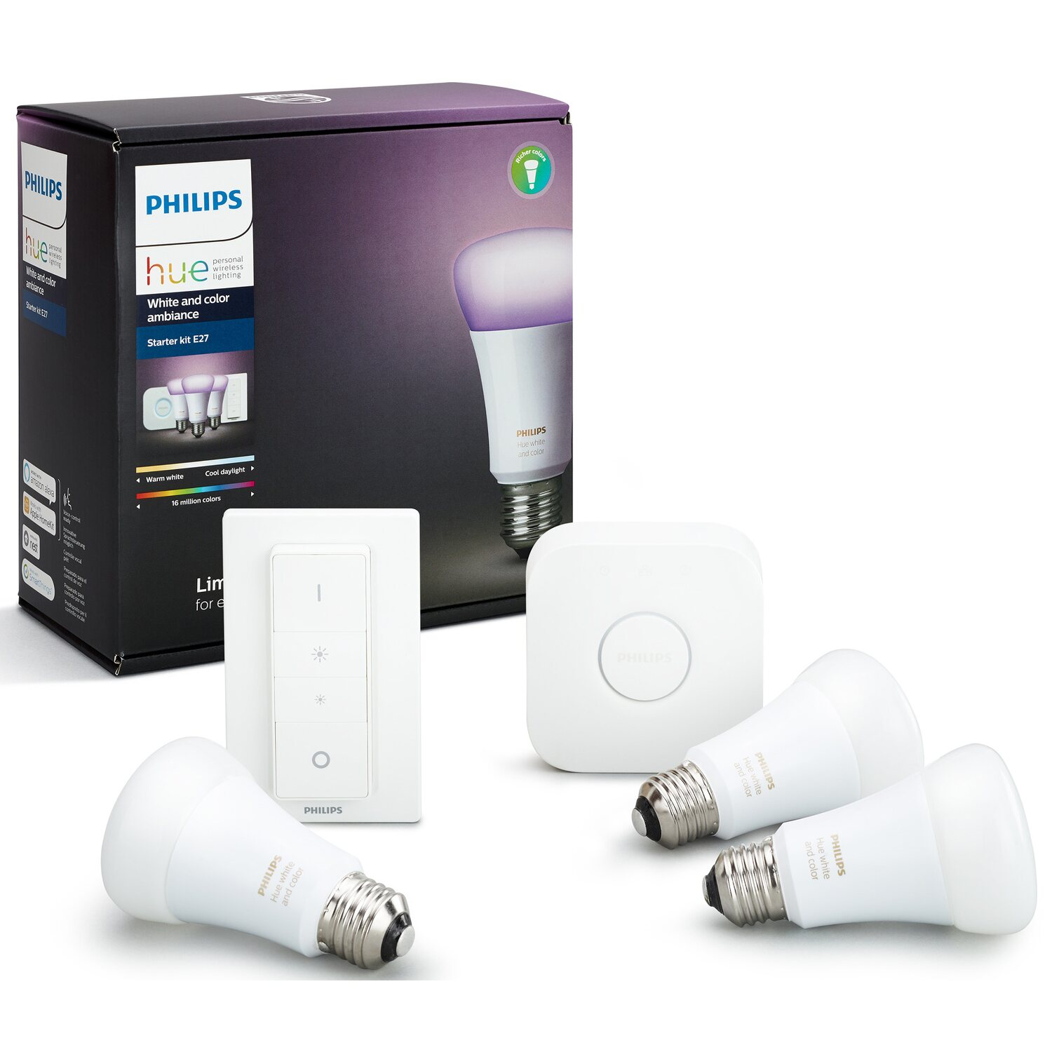 Philips Led Lampen Starter Set Hue White Color Ambiance E27 Inkl