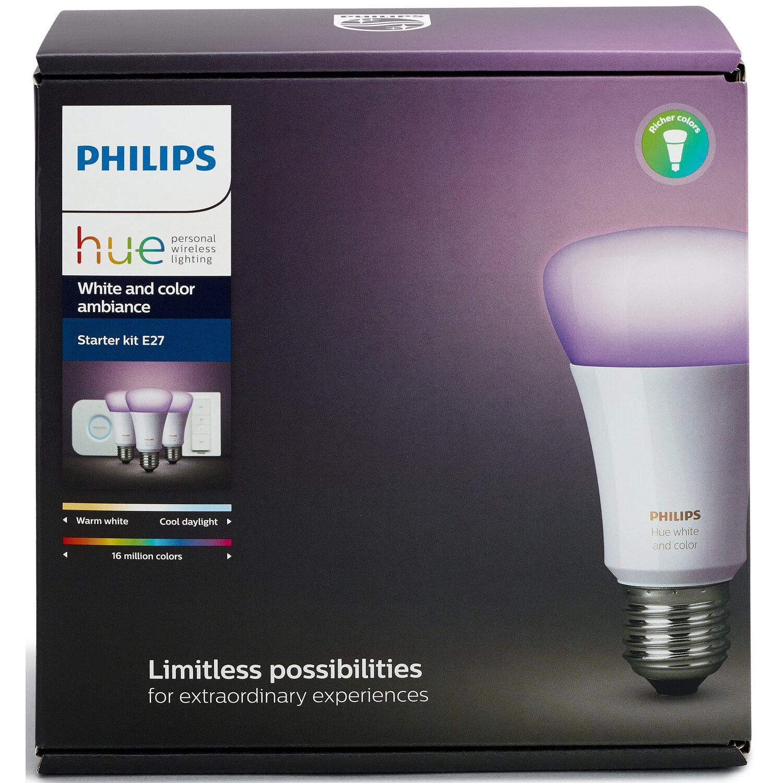 Philips hue white color ambiance e27 led lampe starter set inkl vollbild parisarafo Choice Image