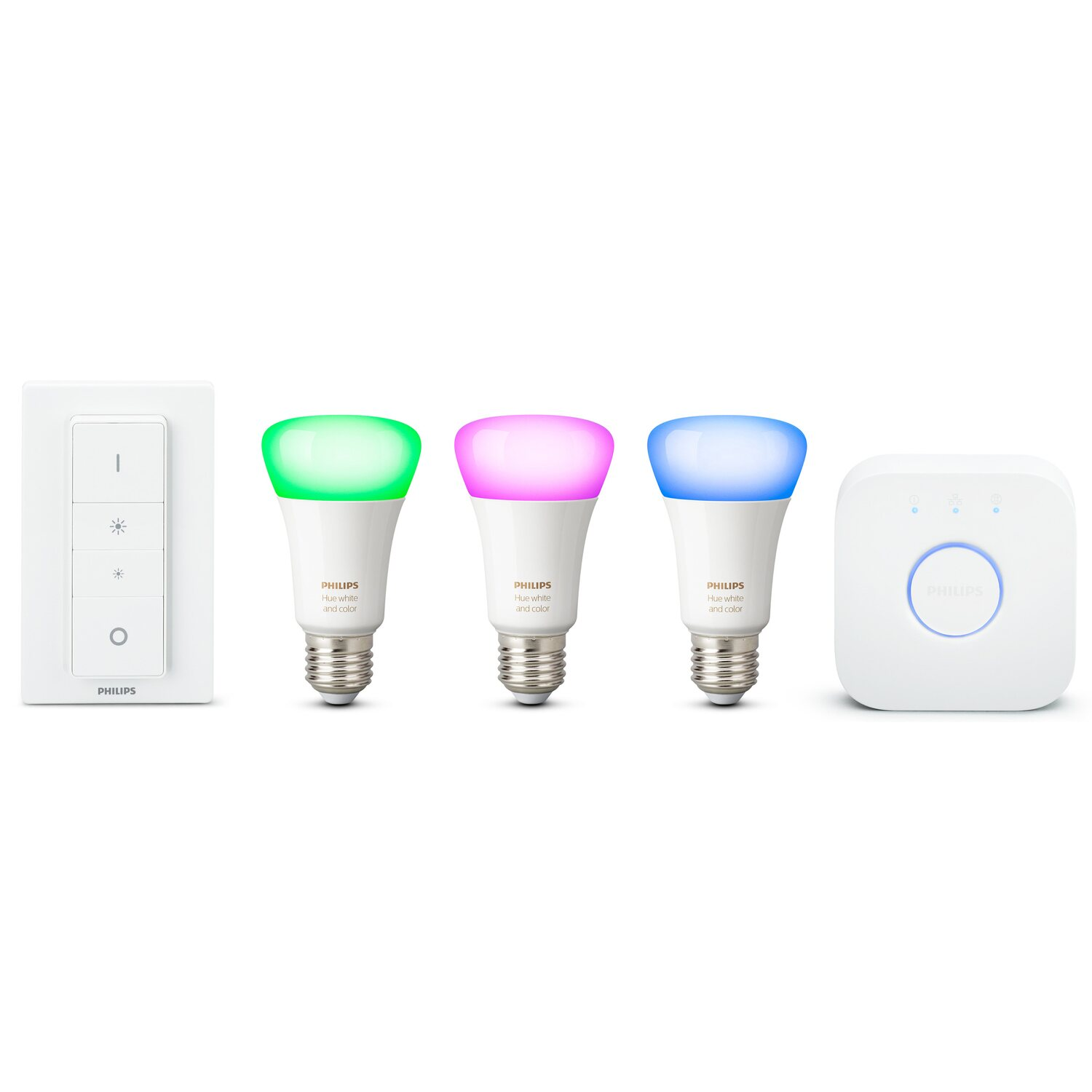 Philips Hue White & Color Ambiance E27 LED Lampe Starter Set inkl ...
