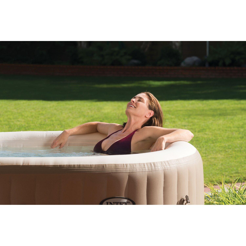 intex whirlpool pure spa jet 77 bubble f r 4 personen 196 cm x 71 cm kaufen bei obi. Black Bedroom Furniture Sets. Home Design Ideas