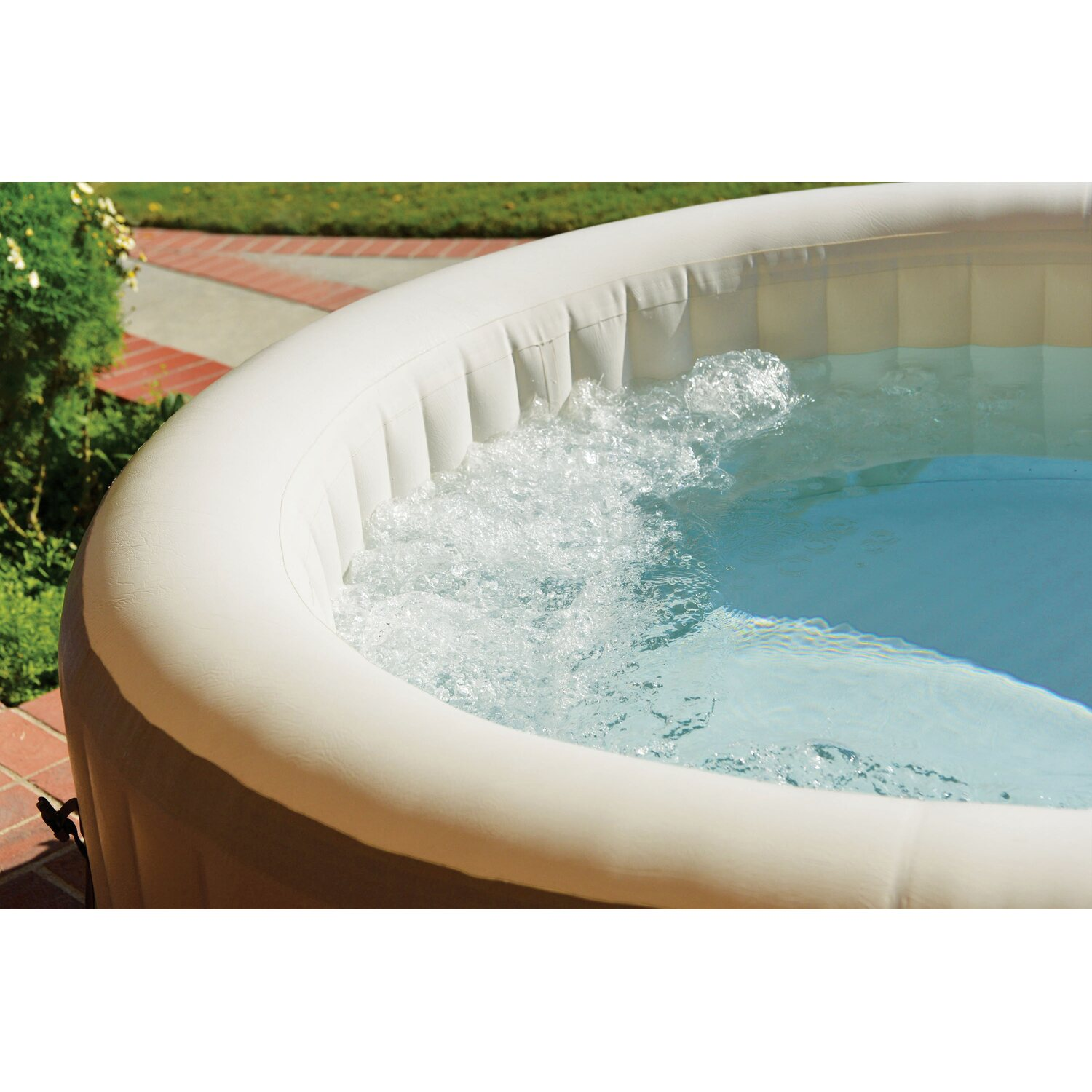 Intex whirlpool purespatm jet 77 bubble f r 4 personen for Obi intex pool