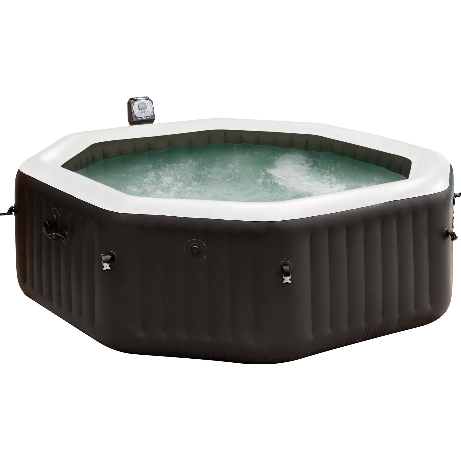 Intex whirlpool pure spa octagon bubble jet f r 6 personen for Obi intex pool
