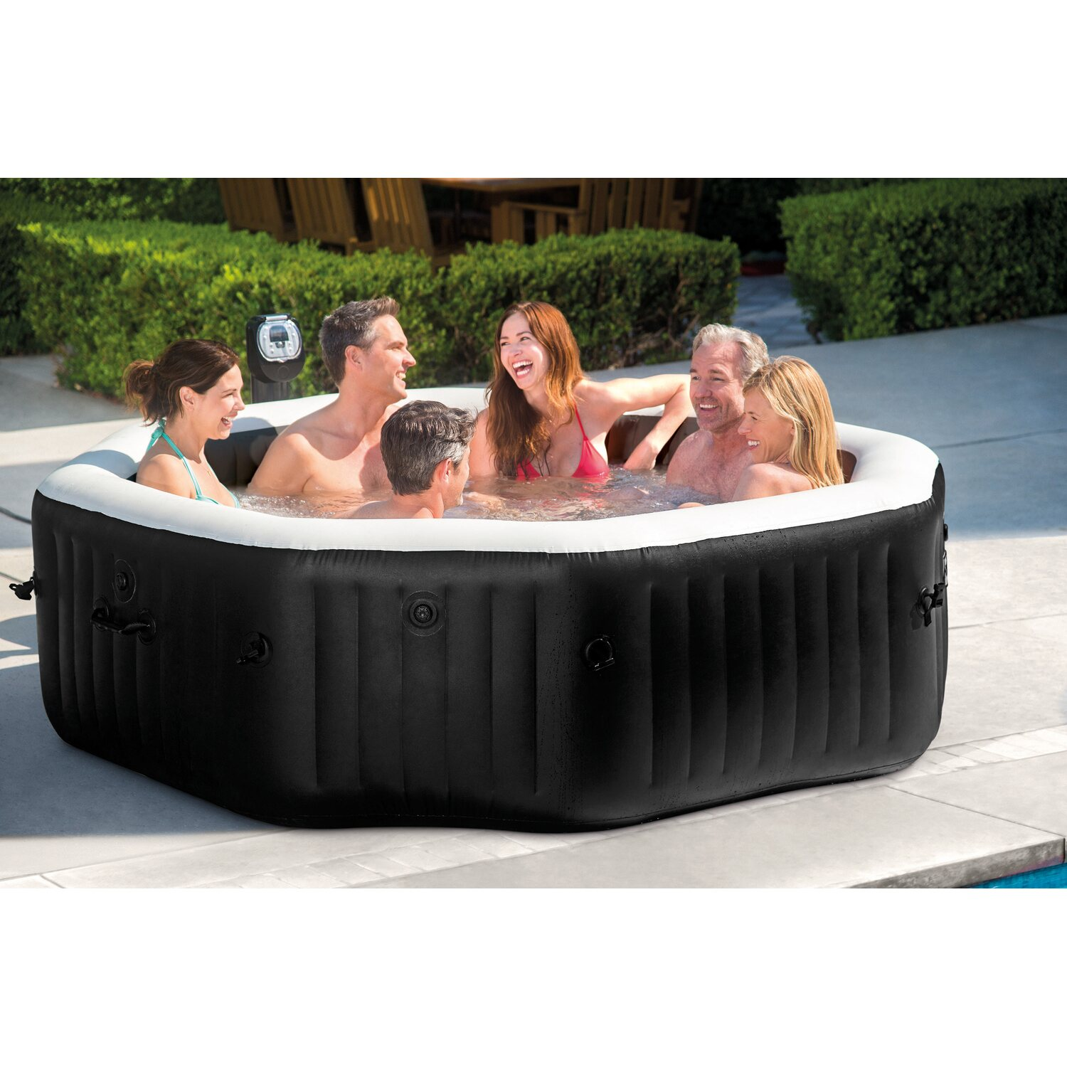 intex whirlpool pure spa octagon bubble jet f r 6 personen 218 cm x 71 kaufen bei obi. Black Bedroom Furniture Sets. Home Design Ideas
