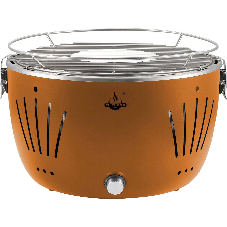 el fuego holzkohle tischgrill tulsa 32 cm orange raucharm kaufen bei obi. Black Bedroom Furniture Sets. Home Design Ideas
