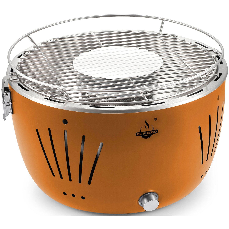 el fuego holzkohle-tischgrill tulsa Ø 32 cm orange raucharm kaufen