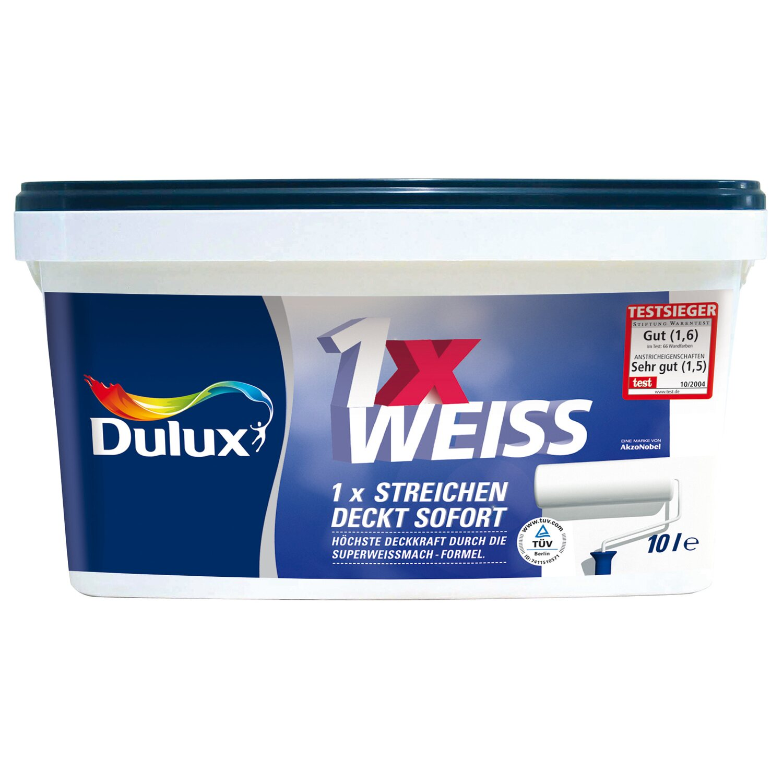 Dulux Feste Farbe dulux 1x weiss stumpfmatt 5 l kaufen bei obi