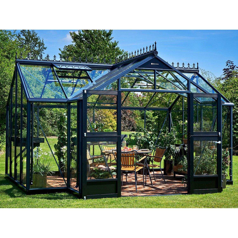 juliana gew chshaus orangerie 15 2 m anthrazit kaufen bei obi. Black Bedroom Furniture Sets. Home Design Ideas
