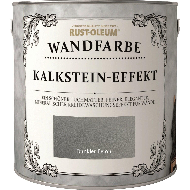 Rust Oleum Wandfarbe Kalkstein Effekt Dunkler Beton 2 5 L Kaufen Bei Obi