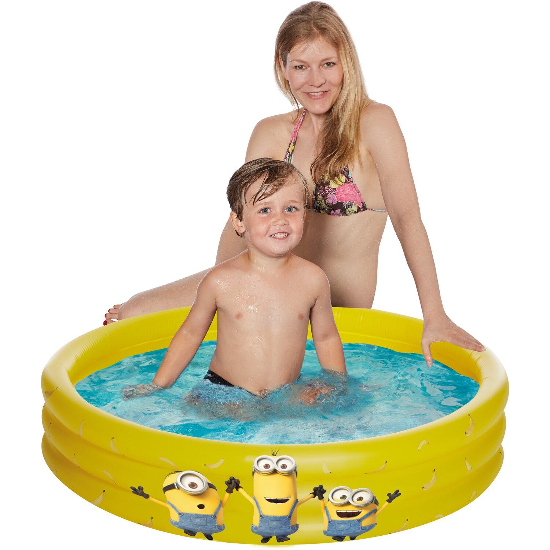 circulor Planschbecken F/ür Kinder 130x90x55cm Dreiringkinderbecken Aufblasbaren Pool Babybecken Bad Ozean Ball Pool Ball-Pools
