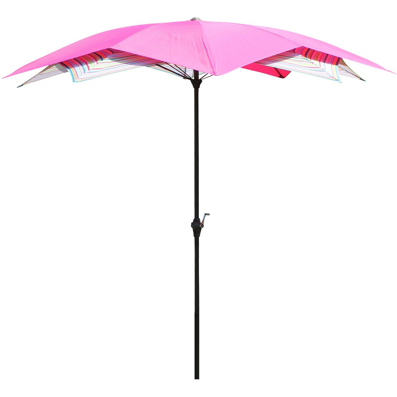Sonnenschirm Blüte Pink Gestreift