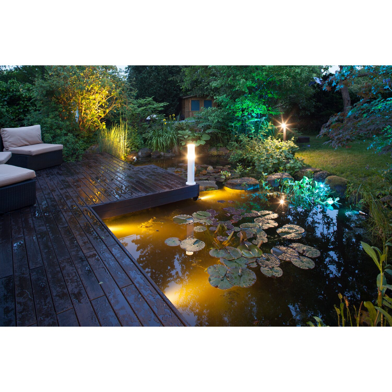 Heissner SMART LIGHT LED Spot für Teich Pool und Garten 9 Watt Multicolor