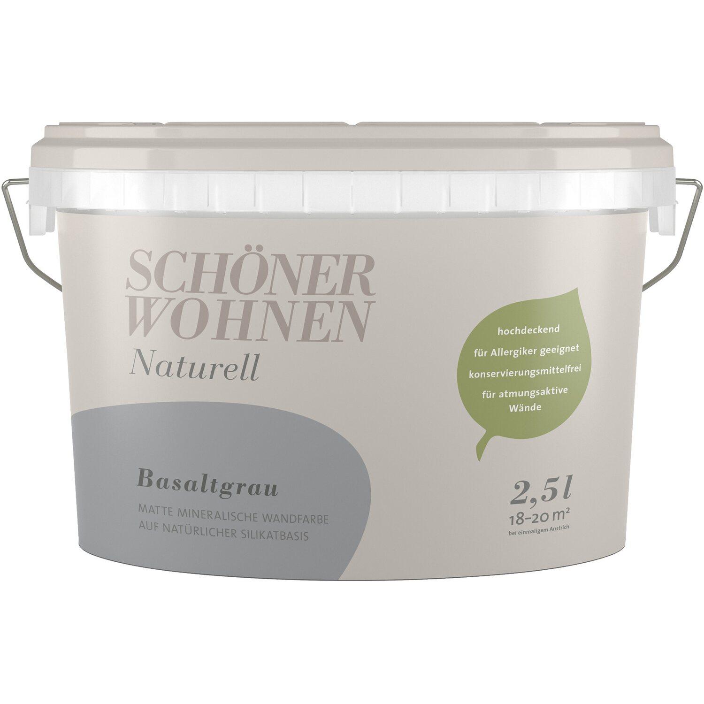 Schoner Wohnen Wandfarbe Naturell Basaltgrau Matt 2 5 L Kaufen Bei Obi