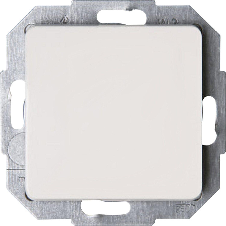 Kopp Serienschalter Lichtschalter Doppelschalter Rivo cremeweiß Schalter Creme